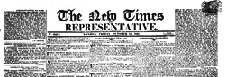 New Times And Representative newspaper archives