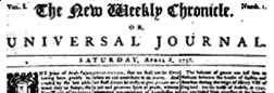 New Weekly Chronicle Or Universal Journal newspaper archives