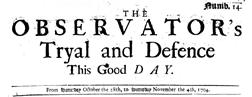 Observators Tryal And Defence newspaper archives