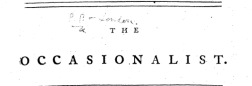 Occasionalist newspaper archives