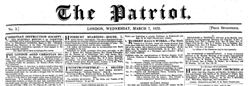 Patriot newspaper archives