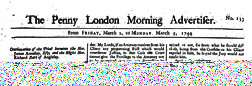 Penny London Morning Advertiser newspaper archives