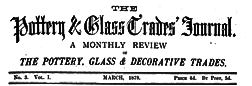 Pottery And Glass Trades Journal newspaper archives