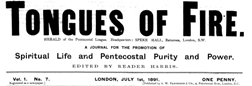 Tongues Of Fire newspaper archives