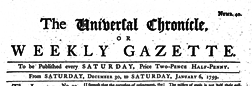 Universal Chronicle And Weekly Gazette newspaper archives