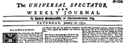 Universal Spectator And Weekly Journal newspaper archives