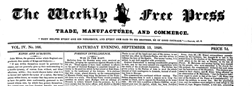 Weekly Free Press newspaper archives