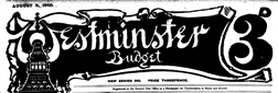 Westminister Budget newspaper archives