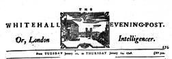 Whitehall Evening Post Or London Intelligencer newspaper archives