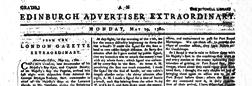 Edinburgh Advertiser Extraordinary newspaper archives
