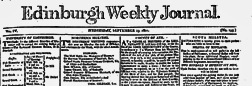 Edinburgh Weekly Journal newspaper archives