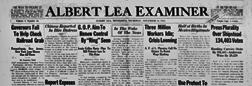 Albert Lea Examiner newspaper archives