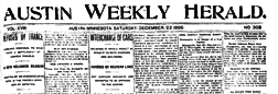 Austin Weekly Herald newspaper archives