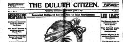 Duluth Citizen newspaper archives