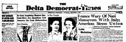 Greenville Delta Democrat Times newspaper archives
