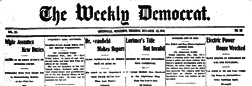 Greenville Weekly Democrat newspaper archives
