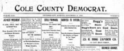 Cole County Democrat newspaper archives