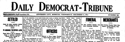 Daily Democrat Tribune newspaper archives