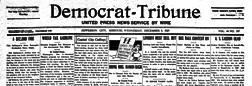 Democrat Tribune newspaper archives