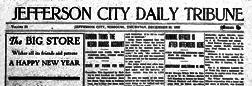 Jefferson City Daily Tribune newspaper archives