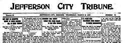 Jefferson City Tribune newspaper archives