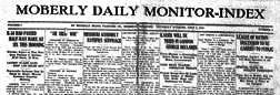 Moberly Daily Monitor Index newspaper archives