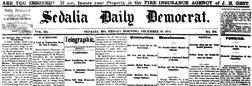 Sedalia Daily Democrat newspaper archives