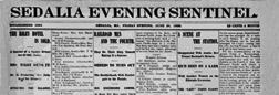 Sedalia Evening Sentinel newspaper archives