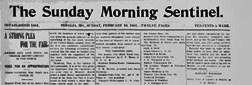 Sedalia Sunday Morning Sentinel newspaper archives