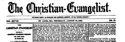 St Louis Christian Evangelist newspaper archives
