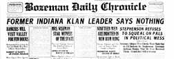 Bozeman Daily Chronicle newspaper archives