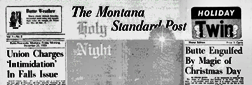 Butte Anaconda Montana Standard Post newspaper archives