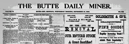 Butte City Daily Miner newspaper archives