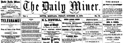 Butte Daily Miner newspaper archives