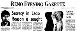 Nevada Evening Gazette newspaper archives