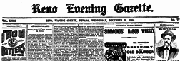 Reno Evening News newspaper archives