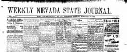 Weekly Nevada State Journal newspaper archives