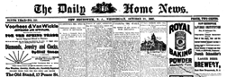 New Brunswick Daily Home News newspaper archives