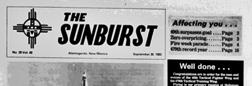 Alamogordo Sunburst newspaper archives