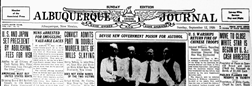 Albuquerque Journal newspaper archives