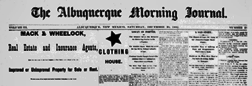 Albuquerque Morning Journal newspaper archives