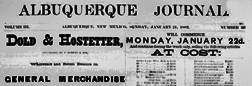 Albuquerque Weekly Journal newspaper archives