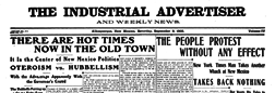 Industrial Advertiser And Weekly News newspaper archives