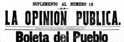 La Opinion Publica newspaper archives