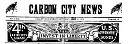 Carbon City News newspaper archives