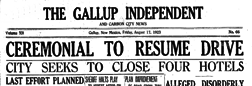 Gallup Independent And Carbon City News newspaper archives