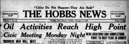 Hobbs News newspaper archives