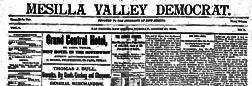 Mesilla Valley Democrat newspaper archives