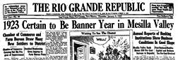 Rio Grande Republic newspaper archives