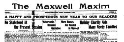 Maxwell Maxim newspaper archives